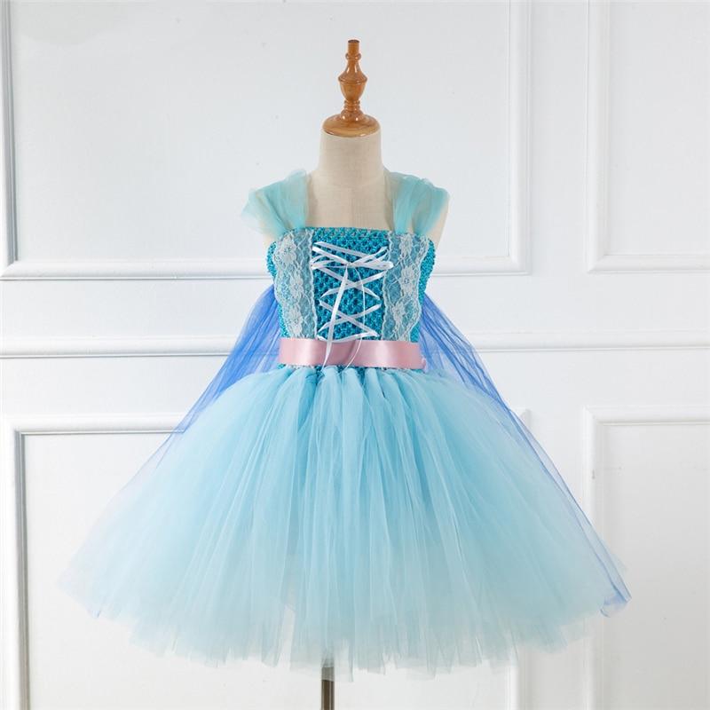 Girls Elsa Princess Costume Cosplay Children Christmas Party Dress Up
