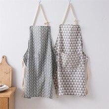 Tablier en lin coton rayé imprimé 1 pièce   Tablier en lin, coton pour adulte enfant, cuisson à domicile, café nettoyage, tabliers accessoires de cuisine