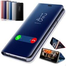 Miroir intelligent Flip téléphone Pour OPPO F11 A9 A5 A3 A11X A11 Reno 2Z 2F 10x zoom K3 Realme 5 X Z C2 A1K 3 X2 Pro 2020 Étui arrière
