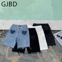 Women's Short Jeans 2021 Summer Streetwear High Waist Five Points Trousers Casual Vintage Baggy Stra