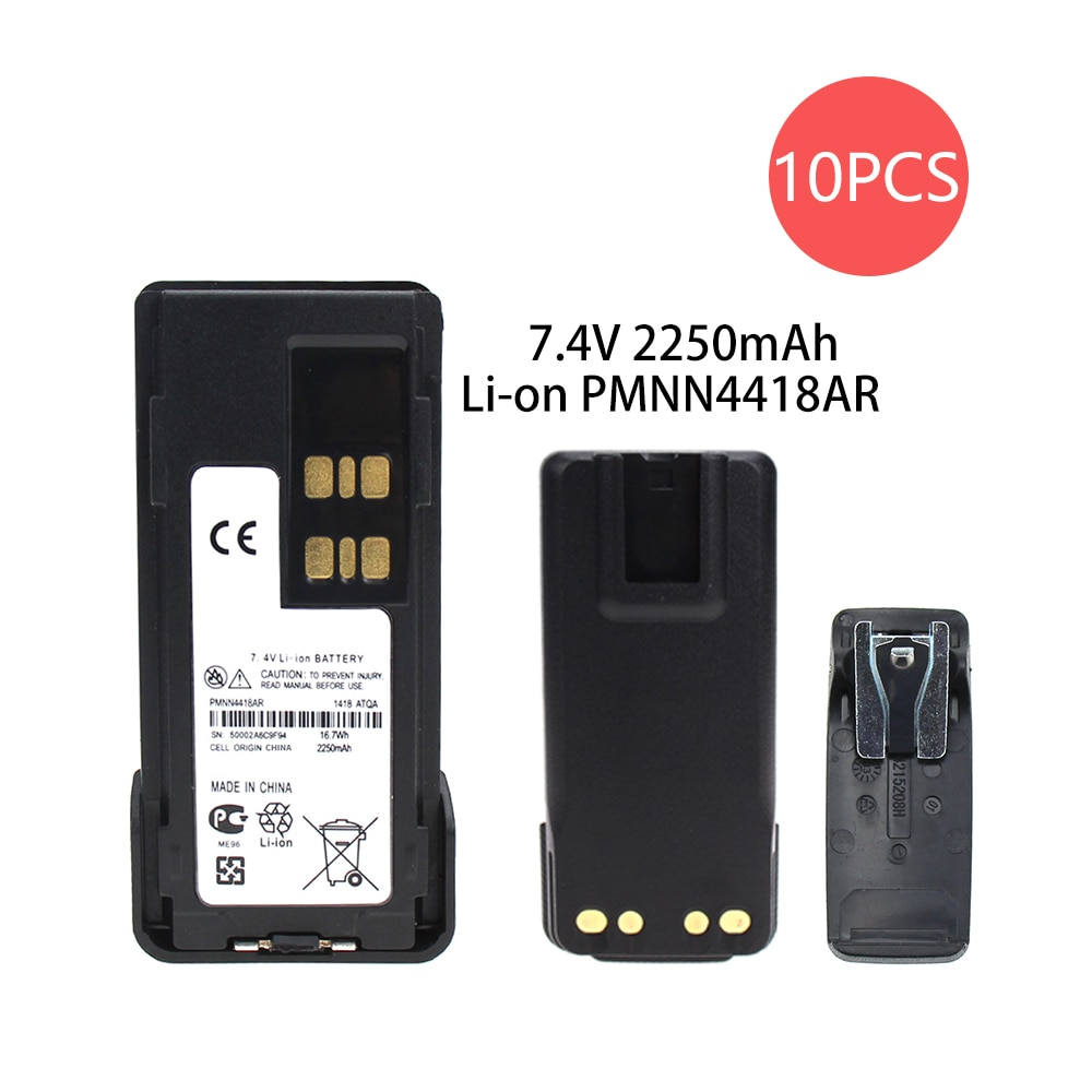 Bateria de Substituição Compatível com Motorola Xir P6600 pn Pmnn441 Pmnn4415 Pmnn4416 10x Dp2400 Dp-2400 Dp2600 Dp-2600