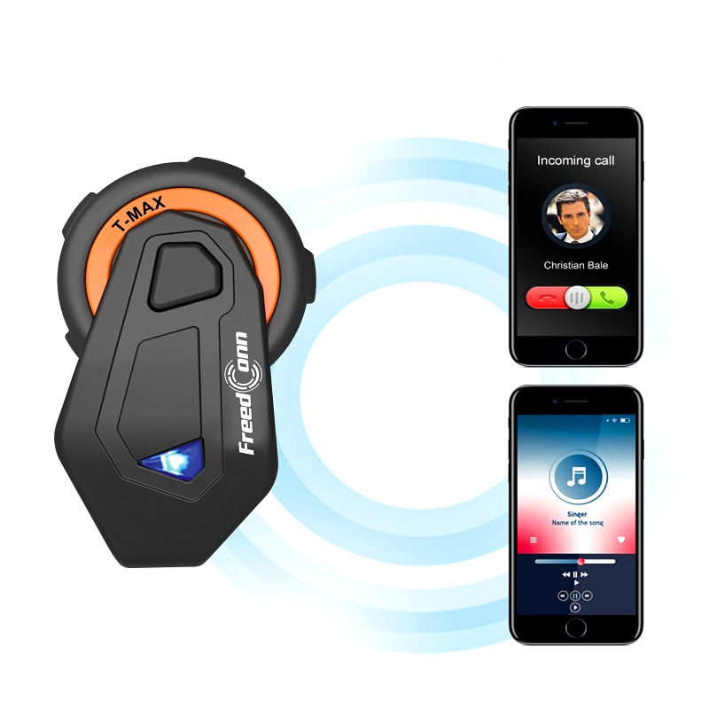 2000M 6 Riders cascos de motocicleta intercomunicador auriculares Bluetooth grupo Talking FM Radio Bluetooth 4,1 120 KMH mejora T-MAX E