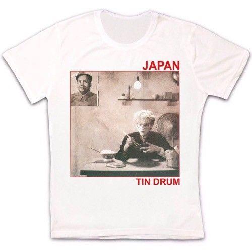 Japão sylvian tin drum unisex t camisa masculina 1505 algodão personalizar camiseta