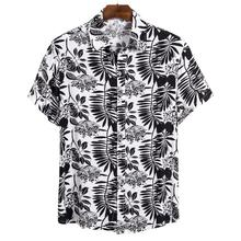 2020 The New Men Shirt Summer Style Palm Tree Print Beach Hawaiian Shirt Men Casual Short Sleeve Hawaii Shirt Chemise Homme 3XL