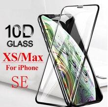 Verre de protection incurvé 10D pour iPhone X XS max XR aphone SE 7 8 plus couvercle complet aifion ip SE p verre trempé 7P 8P film