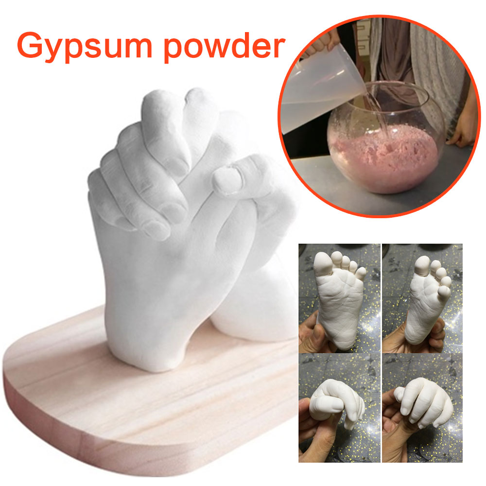 Powder White Cloning Powder Model Baby Mould Footprint Couple Christmas DIY Hand Mold Hands Feet Souvenir Valentine's Decor Gift