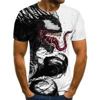 cartoon venom graphic t shirt men and women 3d printing casual round neck short sleeved male t shirt streetwear summer tops tees