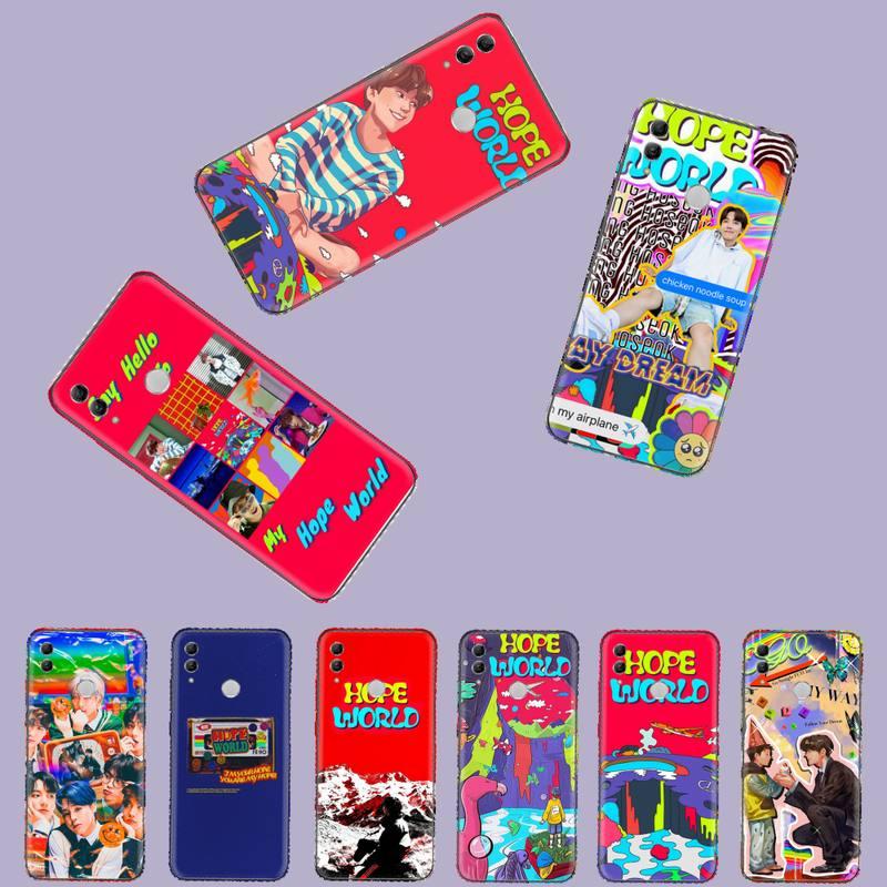 Espero que mundo Bangtan niños de silicona suave funda de teléfono TPU para Huawei Honor 7C 7A 8X 8A 9 10 10i Lite 20 NOVA 3i 3e
