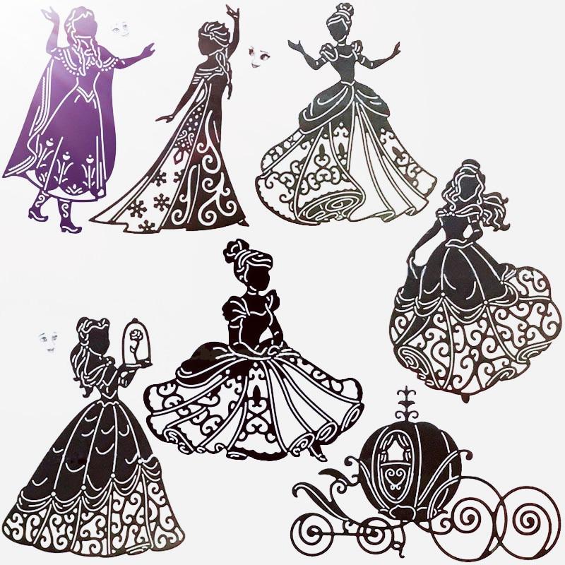 Plantilla de chica de corte de Metal belleza niña rosa Plantilla de chica Princesa para tarjetas de papel para álbum de recortes artesanías nuevo 2019 troqueles decorativos
