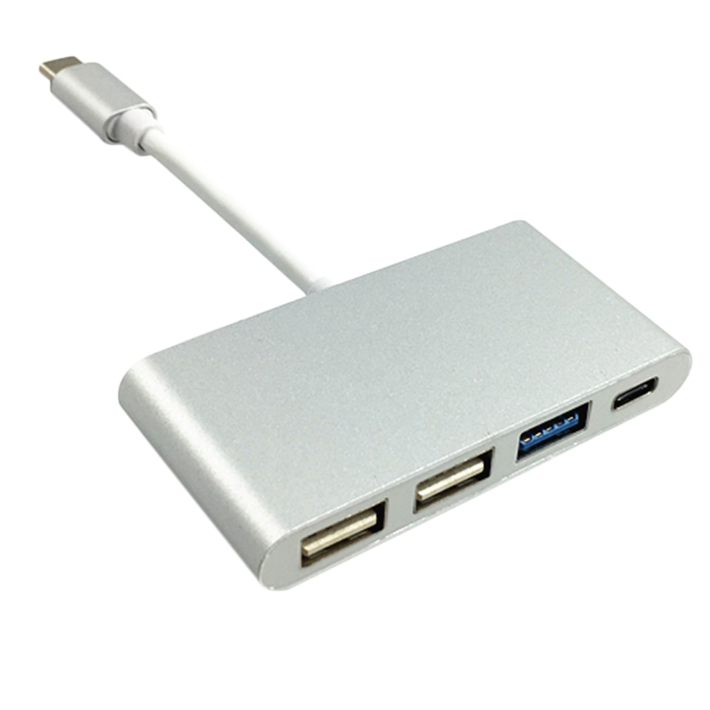 USB-C de diseño portátil compacto, tipo C, USB 3,1 a USB tipo C y adaptador Hub USB 3,0 de 3 puertos para Macbook de alta calidad