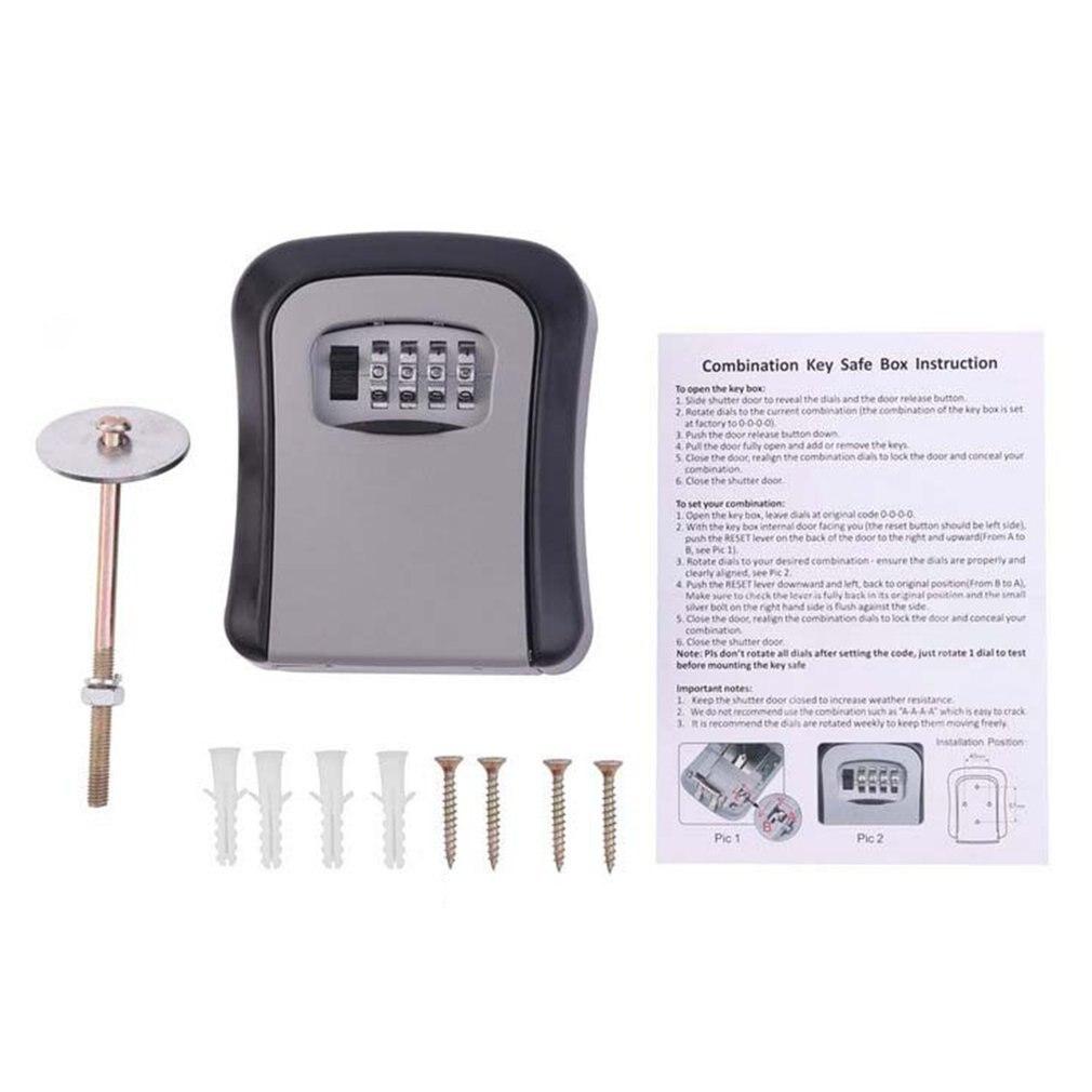 Набор ключей с кодовым замком, 4-значный органайзер для хранения ключей, настенный домашний чехол с металлическим замком для ключей