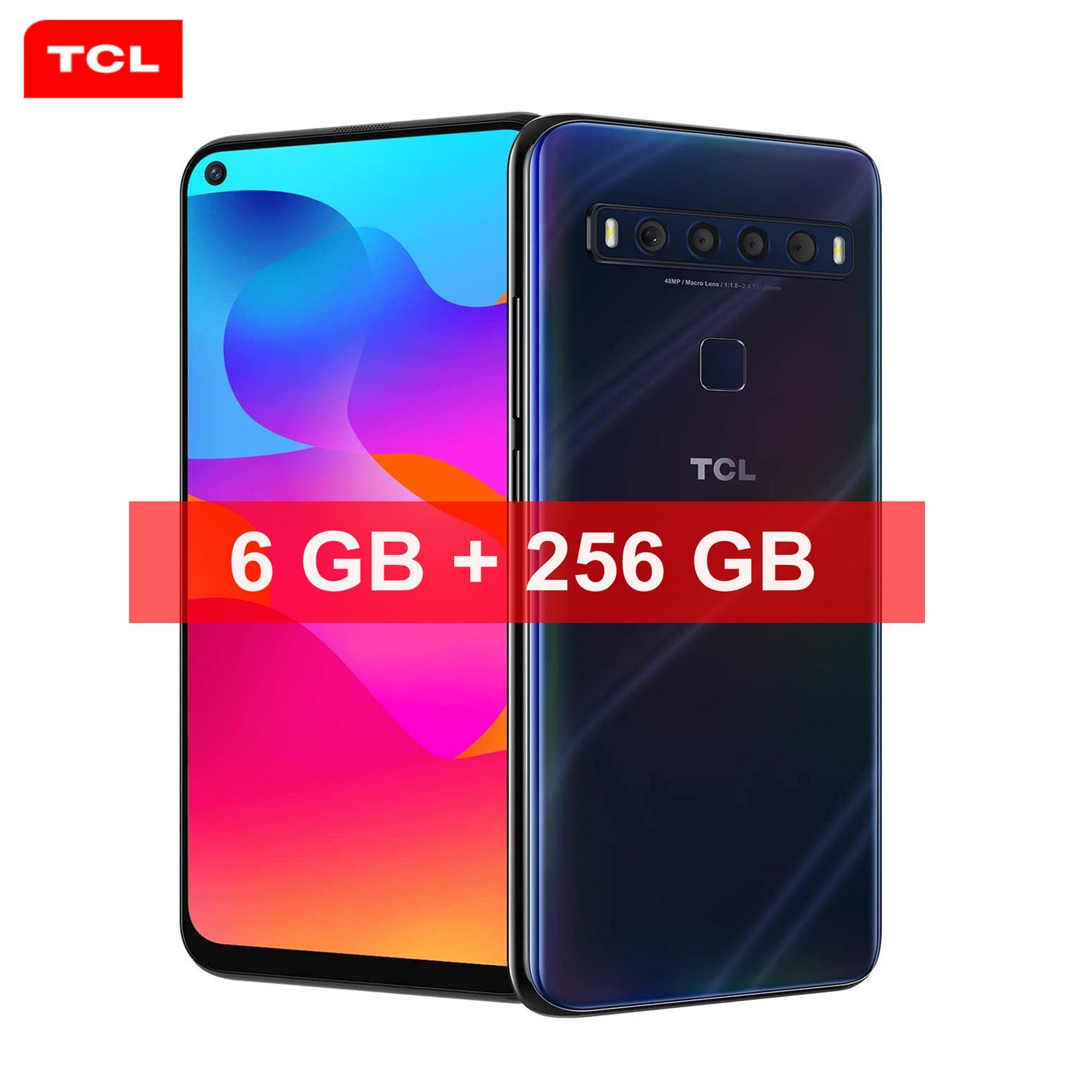 Перейти на Алиэкспресс и купить Новый смартфон TCL 10L NFC 6 ГБ 256 ГБ Snapdragon 6,53 ''NXTVISION 48 МП четыре AI-камеры аккумулятор 4000 мАч Android 11,0 игровой телефон