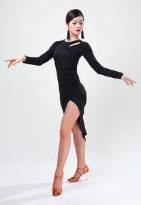 Women Dance Wear Latin Dancing Ballroom Dress Samba Costume Sexy Party Dresses Sheer Stretchy One-piece Latin Dress Practice
