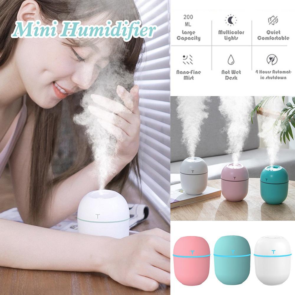 USB Humidifier Mini Large Capacity Night Light Spray Car Study Bedroom Multi-functional Mute Household Humidifier
