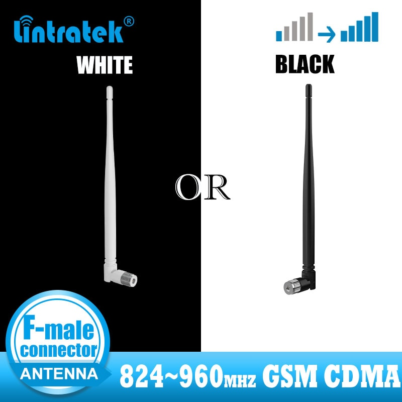 Lintratek 824~960mhz antenna for signal booster F-MALE connector Meet family need Omnidirectional suitable for GSM CDMA repeater