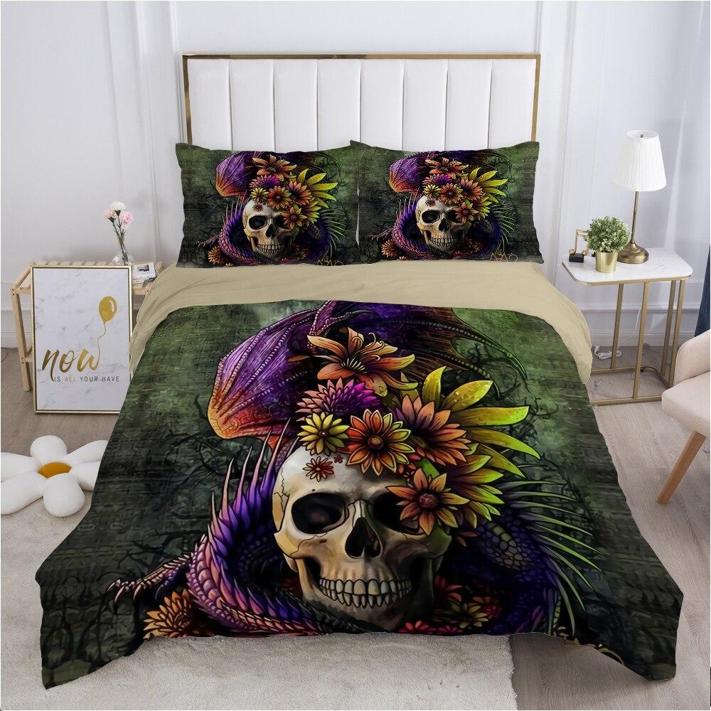 الجمجمة ديدبول حاف مجموعة غطاء 240x220 200x200 طقم سرير التوأم الملكة الملك مزدوجة بياضات سرير غطاء لحاف المفارش سحلية