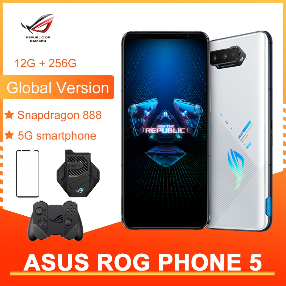 Review Asus ROG 5 5G Global Version 12+256GB Gaming Phone 6.78″ 144Hz Rate Reflash Snapdragon 888 6000mAh Fast charging 65W 64MP NFC