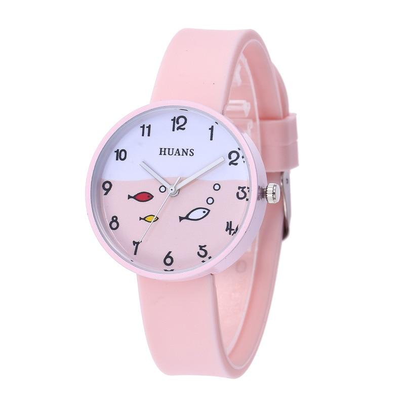 5 Colours Kids Quartz Watches Silicone Watches Strap Children Watches Student Cartoon Cute Student L