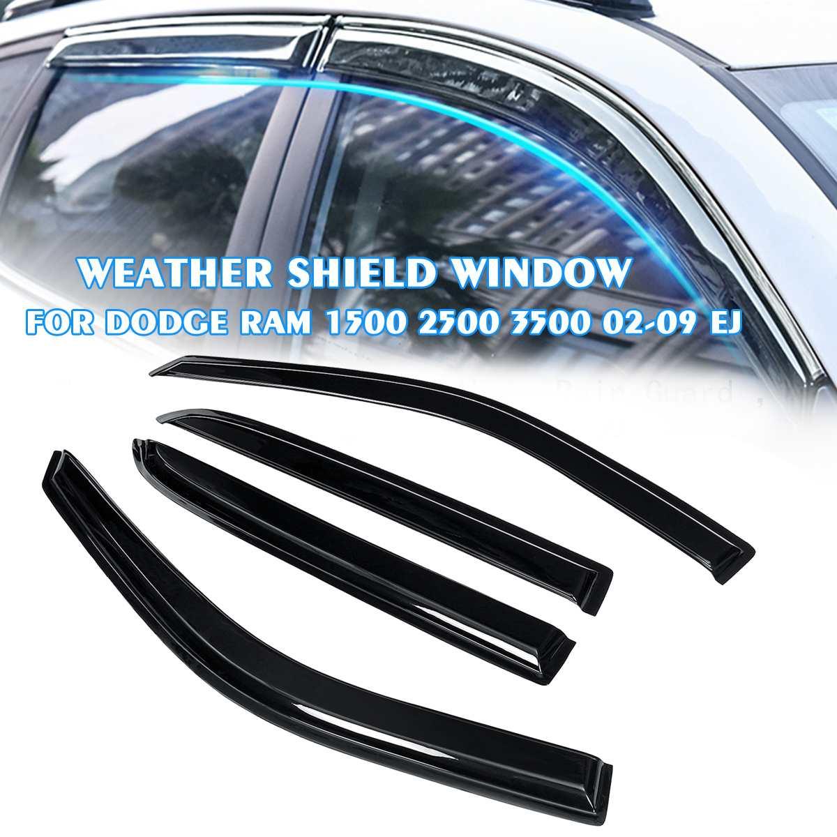Autoleader 4PCS/Set Car Weathershields Window Visor For Dodge Ram 1500 2500 3500 09-18 EJ Deflector Rain Guard