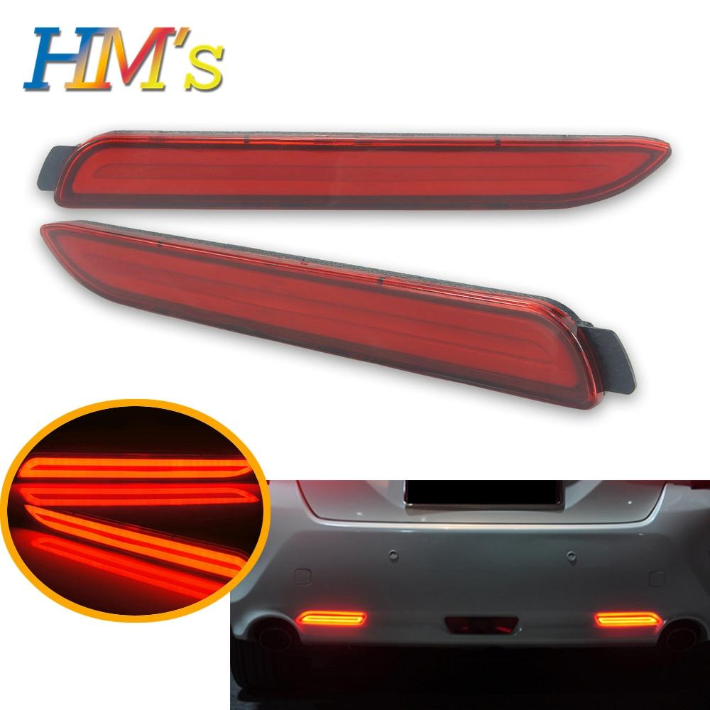 Coche LED reflector de parachoques trasero para Toyota Camry Venza Avalon Reiz deseo luz trasera de frenos para Lexus RX300 RX 300 GX470 GX ISF 470