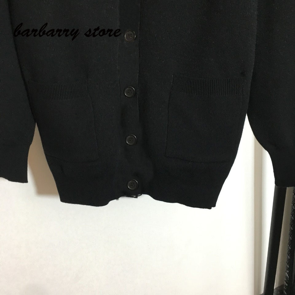 2021 luxury design high-end letter printing fashion women's long sleeved cardigan temperament versatile loose knit sweater coat enlarge