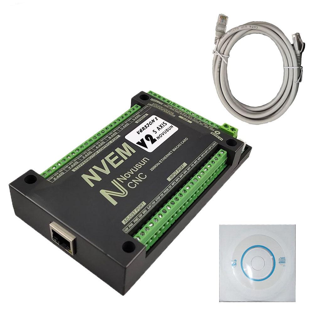 بطاقة التحكم في الحركة mach3 nvemv2.1 3 4 5 6 axis ، وحدة تحكم المحرك ، اتصال إيثرنت ، 200 كيلو هرتز