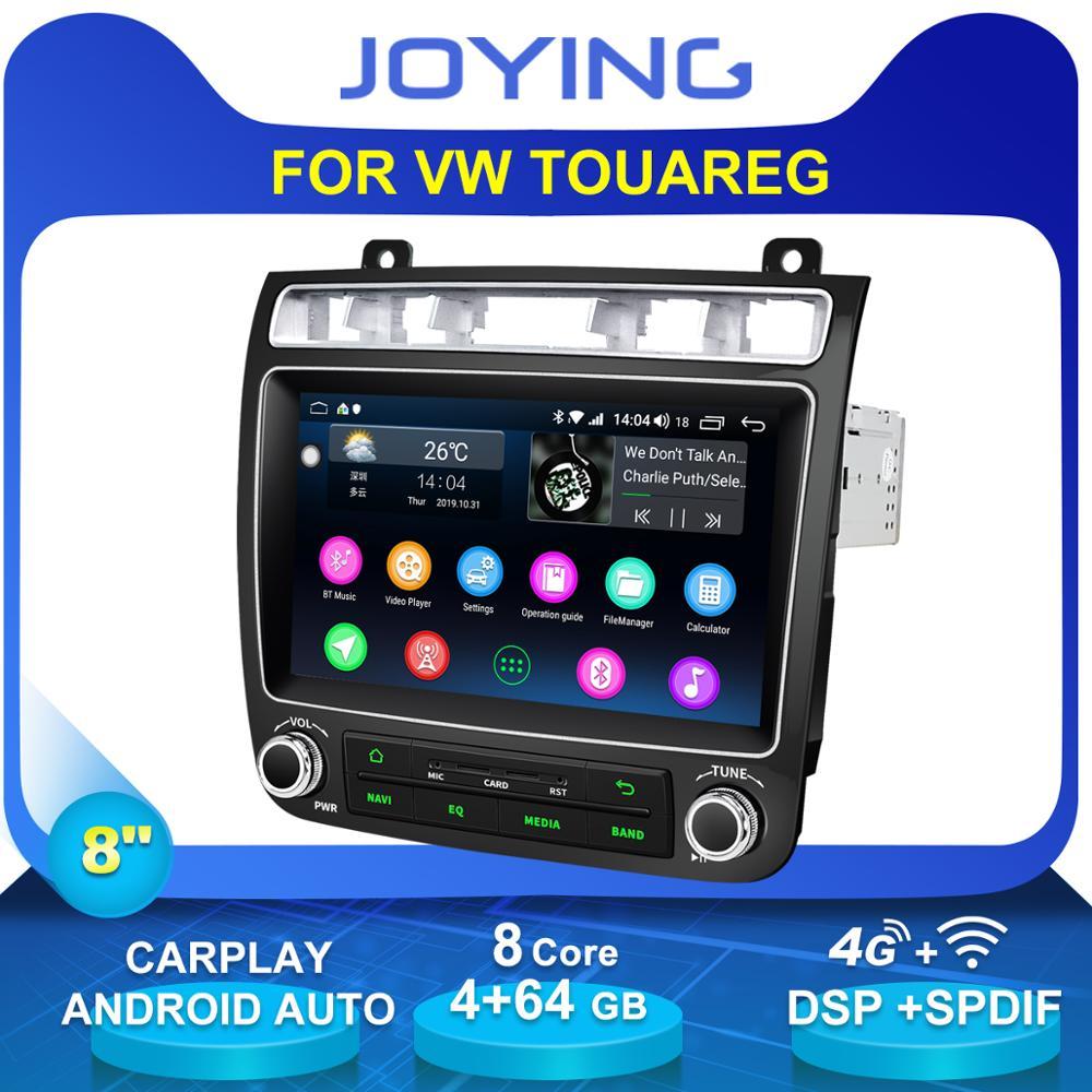 """8 """"Unidad Principal Auto Android accesorios de coche Radio estéreo para Volkswagen VW Touareg reproductor Multimedia Cassette OBD grabadora de cinta DVR"""