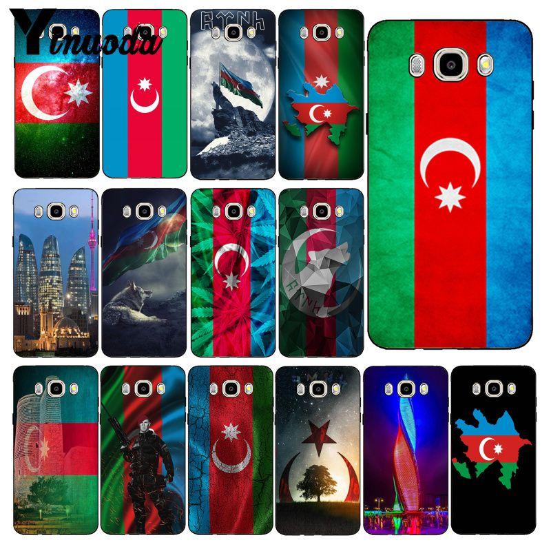 Yinuoda azerbaijão buta bandeira caso de telefone para samsung galaxy j7 j6 j8 j4 j4plus j7 duo j7neo j2 j5 prime