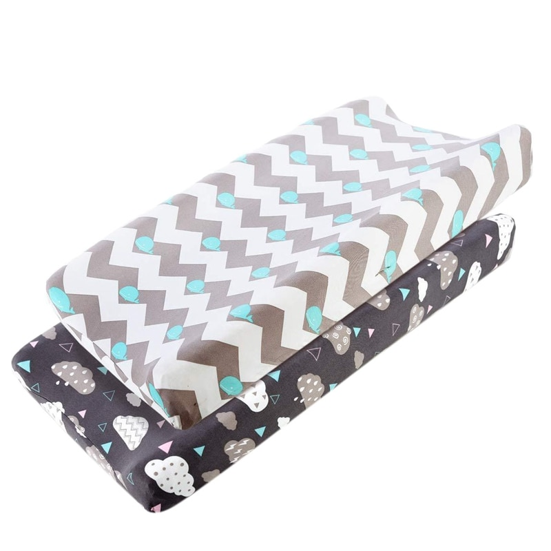 2pcs Baby Changing Pad Cover Stretchy Changing Table Sheet for Baby Boys Girls Diaper Nappies Changing Mats Travel Pad