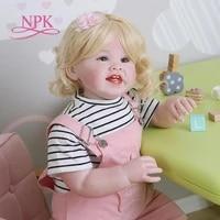 npk 70cm original soft body bebe doll reborn todder girl huge baby lifelike desgin pink breeches christmas decoration gift