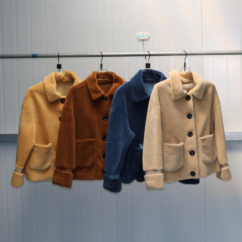 S-9XL nuevo abrigo de Cachemira de moda de talla grande abrigo de piel sintética de mujer chaqueta informal corta de lana ropa de otoño e invierno
