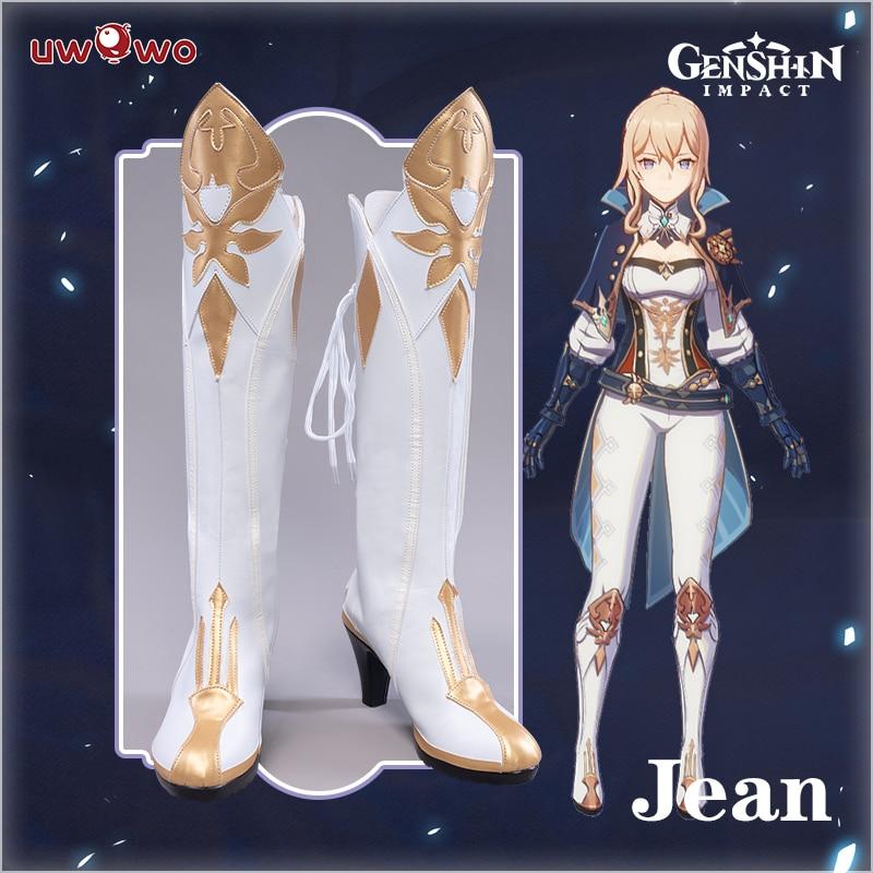 UWOWO لعبة جينشين تأثير جان أحذية تأثيري صارمة الهندباء فارس تأثيري حذاء القدم الأحذية