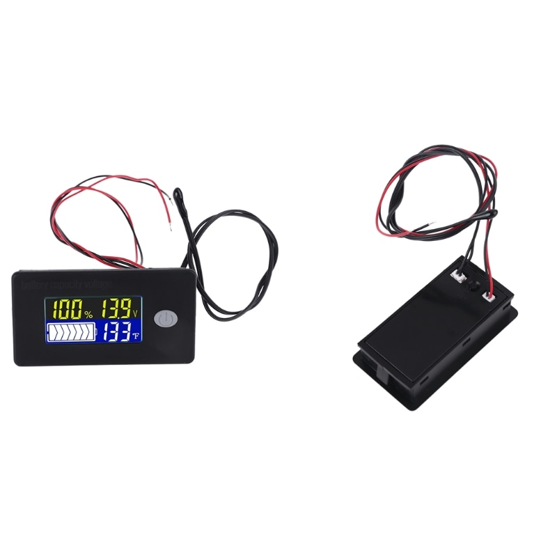 10V-100V Li-ion Lifepo4 Lead Acid Battery Capacity Indicator with Voltage Alarm Temperature Measurement