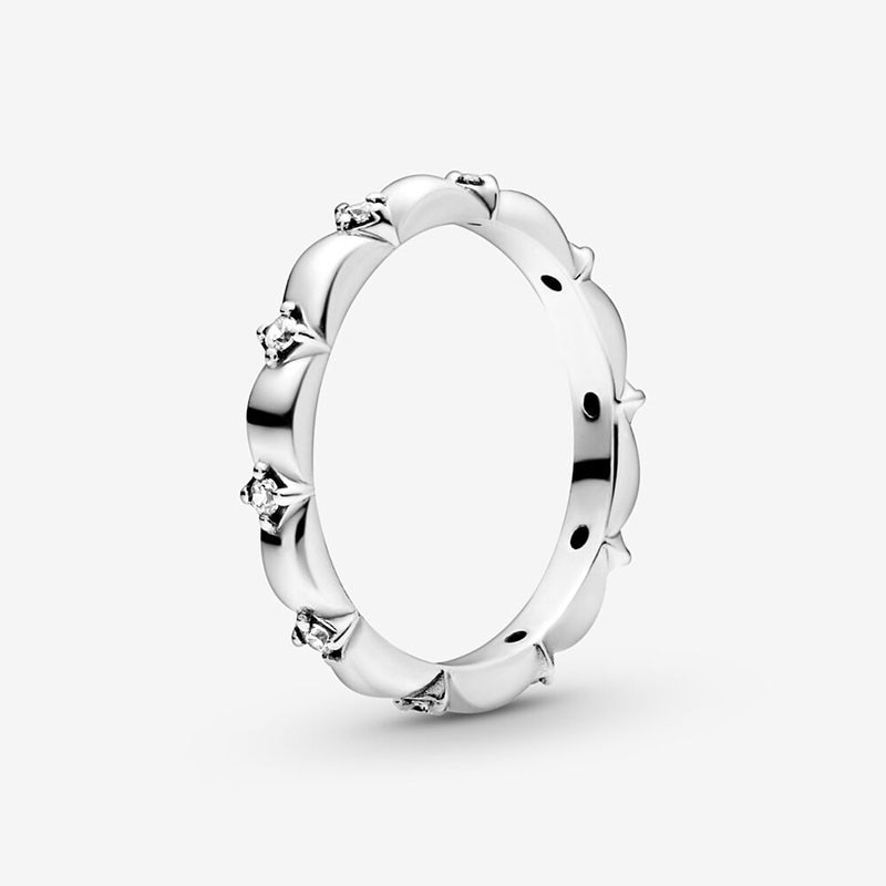 CodeMonkey, gran oferta, anillo 100% de plata esterlina 925 para mujeres con zirconia cúbica transparente, auténtico giro del destino, anillo trenzado apilable R7116