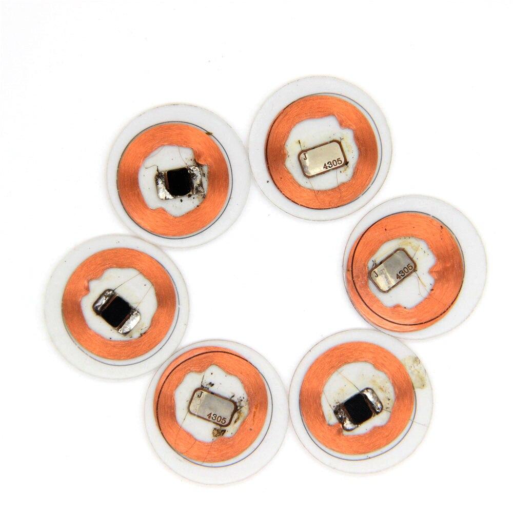100 шт. 125 кГц EM4305 прозрачный падение клея катушки перезаписываемые записываемые брелки бирки с RFID копия клон пустая карта контроля доступа