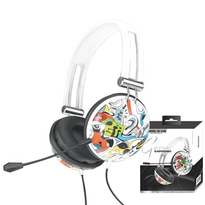 3.5mm Graffiti Headphone Gamer For PS4 PS3 Xbox Switch Headset Surround Sound