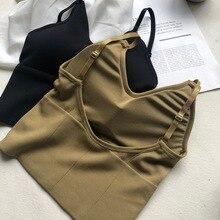 Las mujeres belleza Tops con espalda tubo superior Streetwear sin mangas volver Seamless deportes ropa interior camiseta sujetador cultivo Top Bandeau Top tanque
