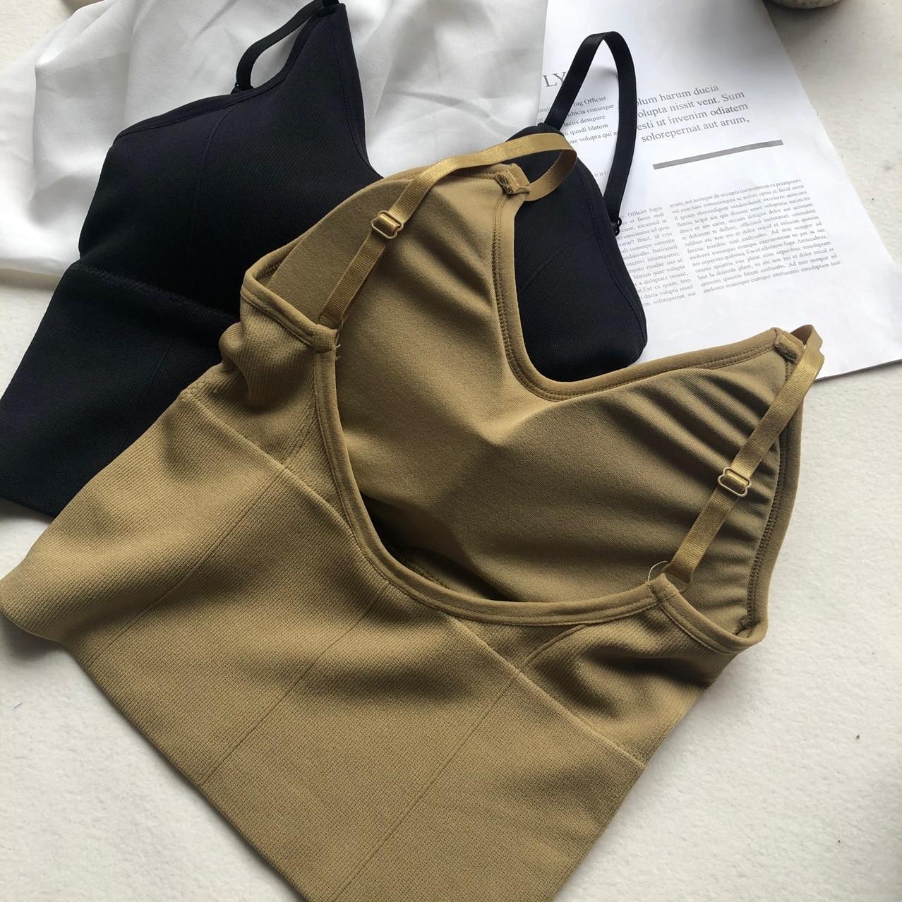 Mulher beleza voltar topos tubo superior feminino streetwear sem mangas camis sem costura lingerie esportiva t sutiã topo de colheita bandeau tanque superior
