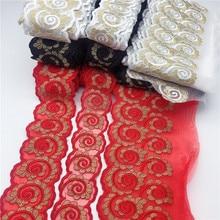 25yards 15 couleur Orgenza dentelle florale ruban dhabillage tissu fleur broderie mariage couture pour ensemble Papa maman enfants bébé
