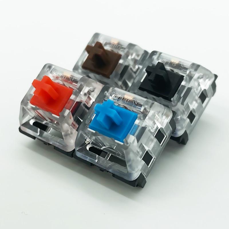 Kailh традиционный игровой механический переключатель клавиатуры SMD с коричневым/красным/синим/черным ключом, с 3 контактами