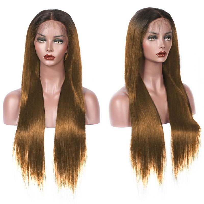 180% Плотность 26 дюймов Омбре медово-светлый длинный прямой синтетический кружевной передний парик для черных женщин малыш волос предварите...