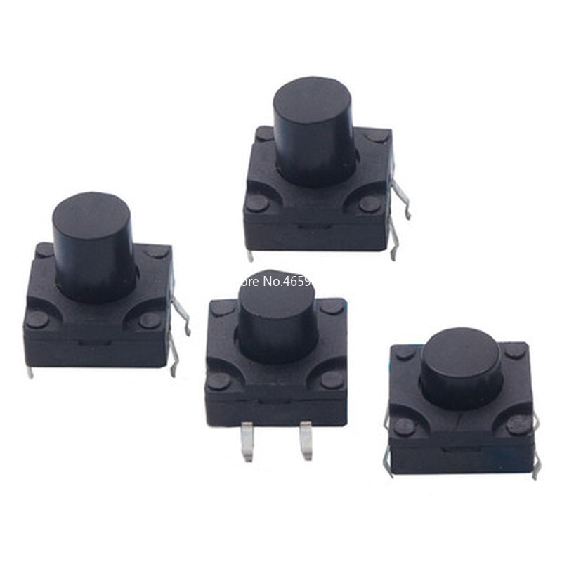 10PCS Waterproof button switch pin 12*12*6/7/8/9/10/12mm Dust-proof tact switch DIP plug-in 4P butto