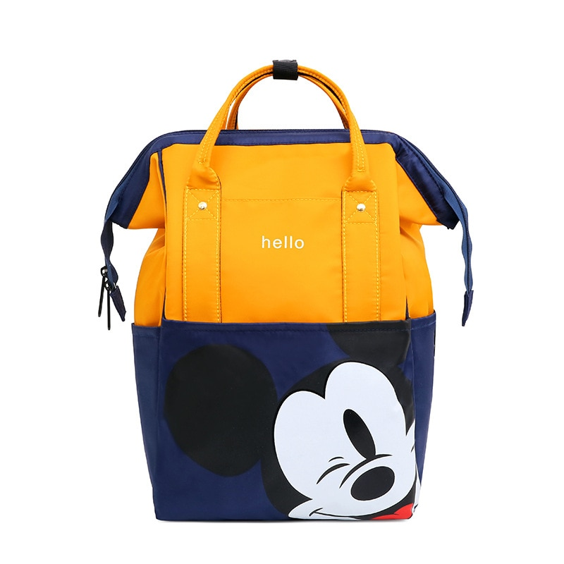 Disney  Mickey Mouse Diaper Bag Waterproof/Baby Care/Mummy Bag Maternity Backpack Large Nappy Bag  Oxford cloth Baby Bag disney mickey mouse diaper bag waterproof baby care mummy bag maternity backpack large nappy bag oxford cloth baby bag