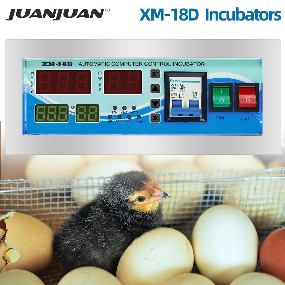 XM-18D / XM-18 حاضنة البيض الرقمية التلقائي ترموستات تحكم حاضنة بيض صغيرة نظام التحكم آلة التفريخ 50% OFF