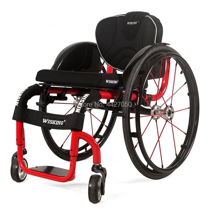 Envío Gratis, alta calidad, alta calidad, fibra de carbono personalizada, anchura máxima del asiento 44cm, silla de ruedas deportiva manual