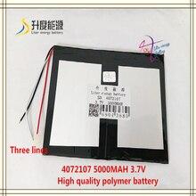 3 lijn 3.7V 5000mAH 4072107 polymer lithium ion/Li-Ion batterij voor tablet pc 7 Crystal Elf Tornados