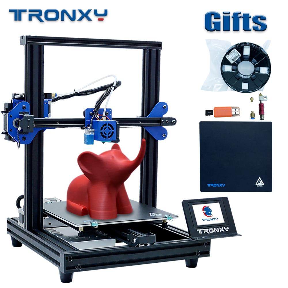 2020 Simple Tronxy XY-2 PRO 3D impresora de alta precisión pantalla táctil extrusora impresoras DIY Kit de tarjeta SD 8G 1Roll PLA