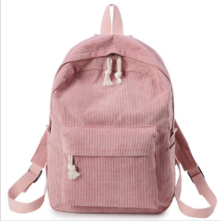 Мягкий тканевый рюкзак PLAYKING в школьном стиле, вельветовый дизайнерский школьный ранец для девочек-подростков, женский полосатый рюкзак