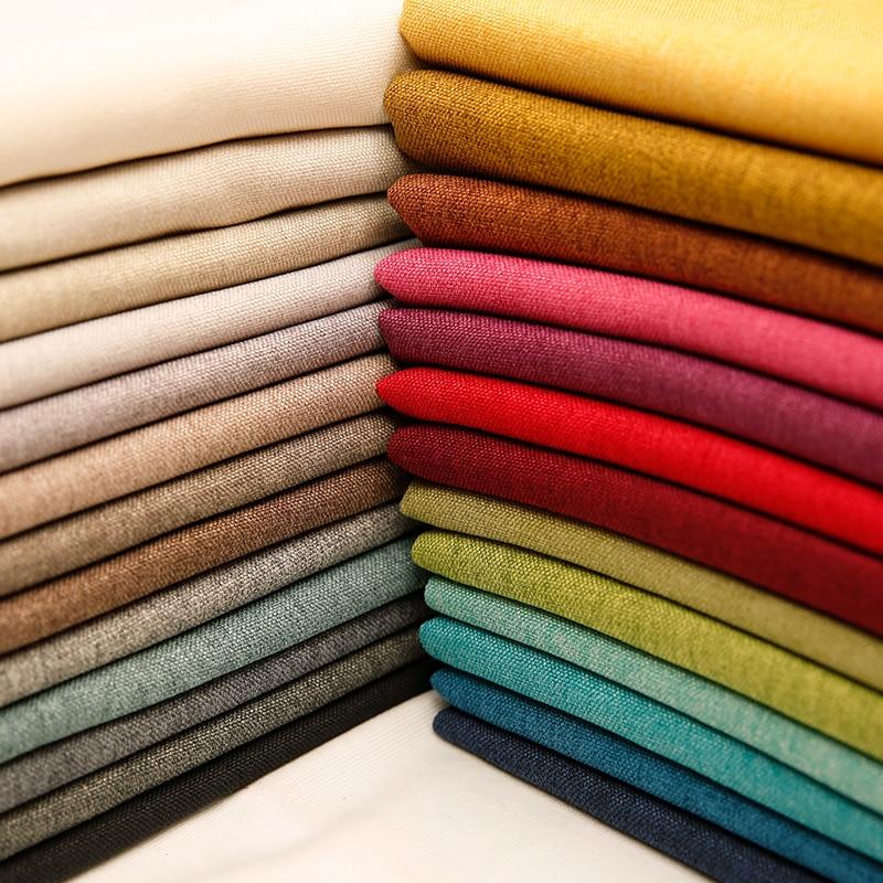 Tela de lino tela opaca para cortina tela de poliéster mantel por metro 50*150cm