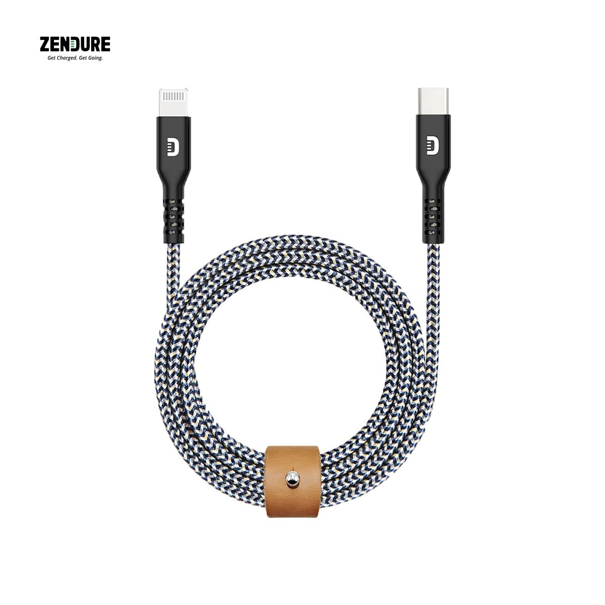 ZENDURE SuperCord USB-C إلى البرق 1m كابل CTL أبل MFi المعتمدة جدا قوي ودائم مع النايلون و كيفلر مضفر
